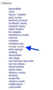 craigslist california